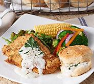 Heartland Fresh (10) 5 oz. Chicken Fried Chicken w/Gravy Pack & Biscuits - M55180