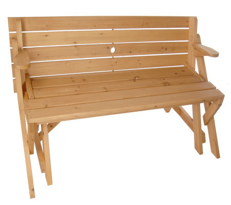 Solid Wood 2 In 1 Picnic Table Garden Bench Combination M13881