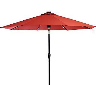 ATLeisure 9' Solar Patio Umbrella w/ Bluetooth Speaker