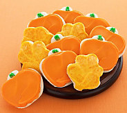 Cheryls 24 Buttercream Frosted Leaf/Pumpkin Shaped Cookies - M112682