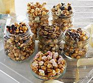 Hampton Popcorn Set of 6 Gourmet Holiday Popcorn Tubes - M51482