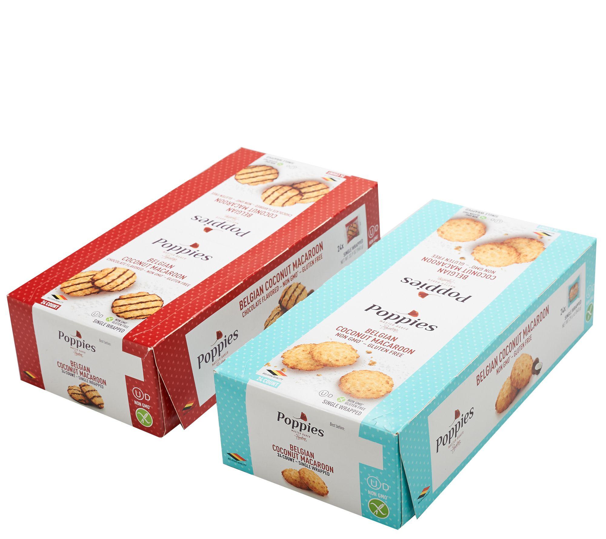 Sh 3 19 Poppies 48 Coconut Chocolate Coconut Macaroons Qvc Com