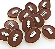 Cheryls 12 Buttercream Frosted Football-ShapedCookies - M112684