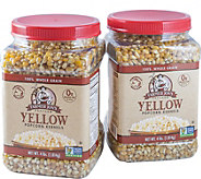 Farmer Jons (2) 4-lb Jars - Yellow Virtually Hulless Kernels - M116284