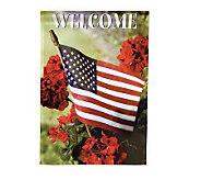 Patriotic Sublimated Nylon House Flag - M25684