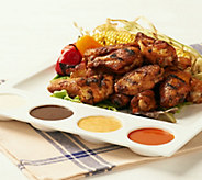 Corkys BBQ (6) 1 lb. Bags Hickory Smoked Jumbo Wings Auto-Delivery - M50884