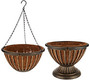 S/2 Ultimate Innovations AquaSav Urn & Hanging Basket Set - M51584