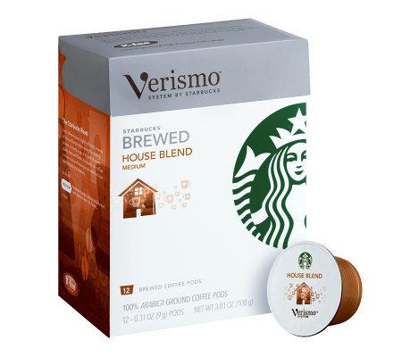 starbucks verismo house blend coffee pods 72pc � qvccom