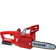 Sun Joe iON 10 Cordless Rechargeable Chain Saw with Charger - M49686
