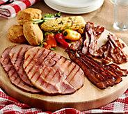 Kansas City (6) 8 oz. Ham Steaks and 3 lbs. Bacon Flight - M53986