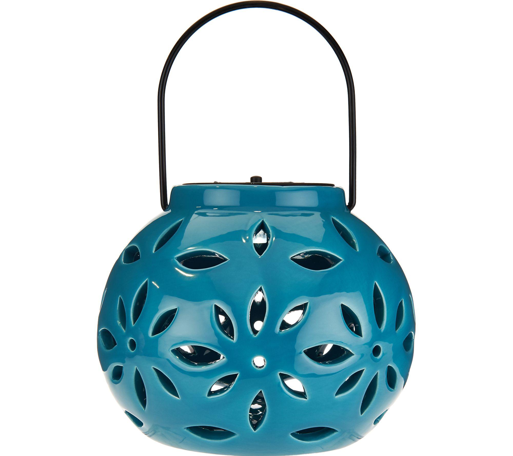 Amazing Solar Ceramic Flower Petal Lantern   M51787