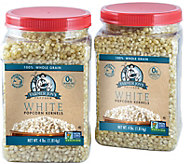 Farmer Jons (2) 4-lb Jars - White Virtually Hulless Kernels - M116288