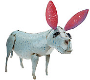Plow & Hearth Blue Donkey Garden Statue - M45588