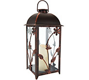 Compass Home Indoor/Outdoor Solar Candle Lantern - M51988