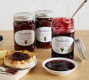 Sarabeths (3) 18 oz. Mason Jars of Fall Spreadable Fruit Preserves - M51889
