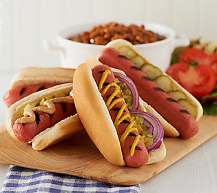 Kansas City Steak Company (24) 3.2oz. All Beef Hot Dogs Auto-Delivery