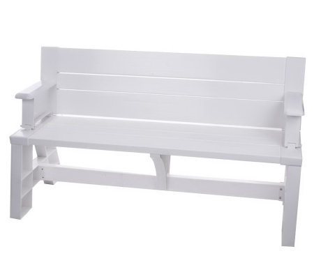 Convert A Bench 2 In 1 Outdoor Bench To Table Qvc Com