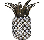 Plow & Hearth Jeweled Crystal Solar Pineapple - M55790