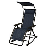 As Is Bliss Hammocks Rocking Gravity Free Recliner with Canopy - M120091