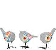 Plow & Hearth Set of 3 Mosaic Birds - M55691