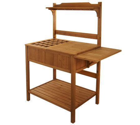 Merry Products Solid Wood Potters Bench Amp Entertainment