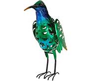 Solar Filigree Metal Bird Statue - M55992