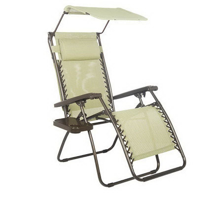 Bliss Hammocks Gravity Free Recliner with Canopy & Cup Tray