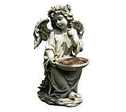 Cherub Angel Birdbath Statue by Roman - M112394