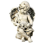 14 Cherub with Kitten Figurine by Roman - M110996