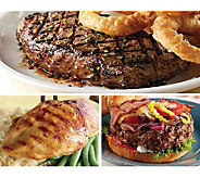 Kansas City Strip Steak, Chicken, & SteakburgerBack Yard BBQ - M113798