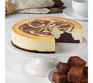 Juniors 8 Brownie Marble Swirl Cheesecake - M115598