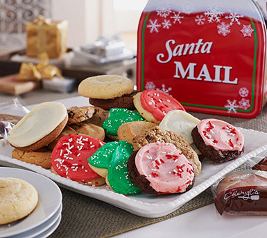 Cheryl's 30pc. Full-Size Cookies in Holiday Mailbox Tin - M51199