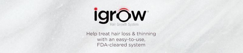 iGrow. Help treat hair loss & thinning with an easy-to-use, FDA-cleared system