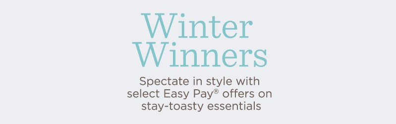 Winter Winners. Spectate in style with earmuffs, hats, blankets & more