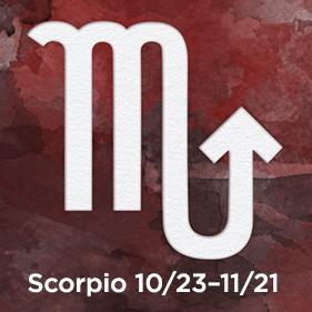 Scorpio 10/23–11/21