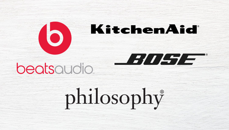 beats audio. KitchenAid. BOSE. Philosophy
