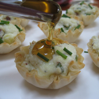 Honey-Kissed Bleu Cheese Tartlets