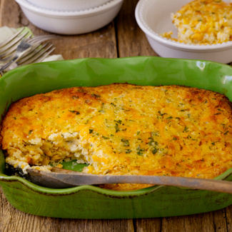 Cheesy Creamed Corn Pudding