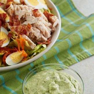 Chef Salad with Green Goddess Dressing