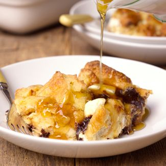 Chocolate Cream Cheese Bread Pudding
