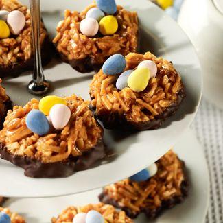 Salted Caramel Chocolate Nests