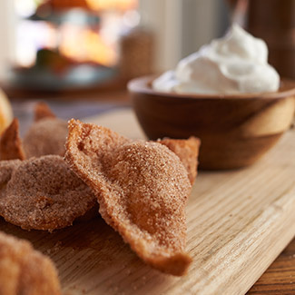 Deep-Fried Pumpkin Pie Ravioli