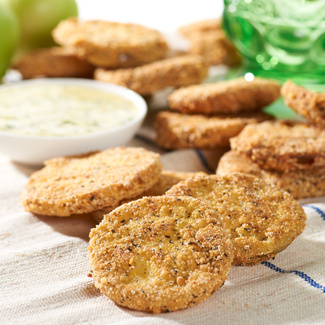 Fried Green Tomatoes with Garlic-Basil Aioli