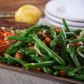 Green Bean Almondine<