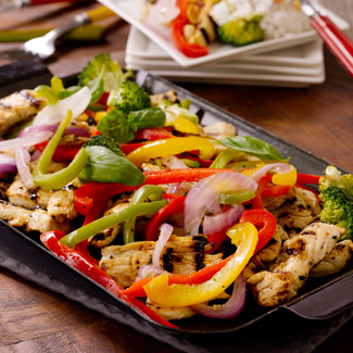 Grilled Chicken Broccoli Stir-Fry