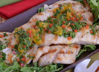 Grilled Pacific Rockfish with Citrus-Herb Salsa