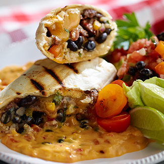 Grilled Skirt Steak Burrito