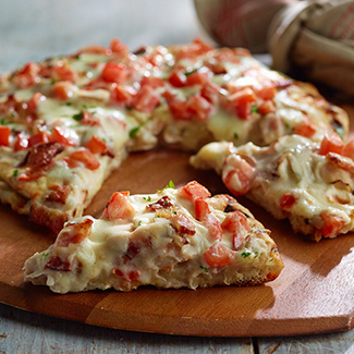 Grilled Hot Brown Pizza