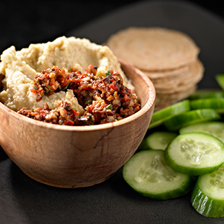 Hummus with Olive Tapenade