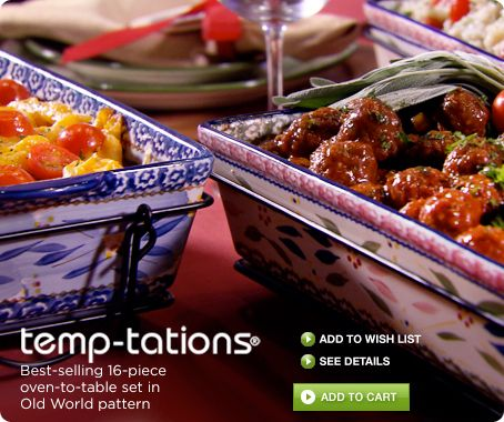Temp-tations® Old World 16-piece oven-to-table set